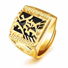 make gold rings images Pure gold color quot make a fortune quot chinese letter men 39 s ring hip jpg
