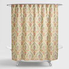 watercolor ogee shower curtain world market