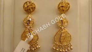 images of earrings in gold gold earrings rishabh gold jewels india limited
