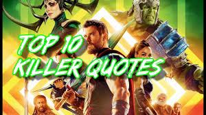 thor film quotes top 10 killer quotes thor ragnarok youtube