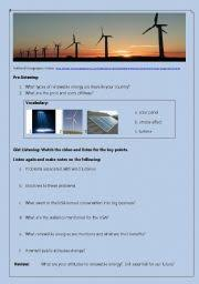 english teaching worksheets renewable energy