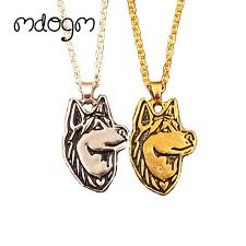 gold dog pendant necklace images 2018 new cute husky necklace dog animal pendant gold silver plated jpg