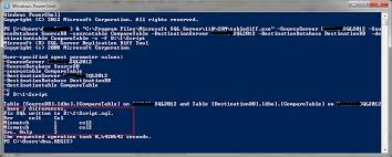 sql server compare tables compare tables between 2 databases with tablediff and powershell