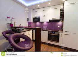 modern white and purple kitchen royalty free stock photo image