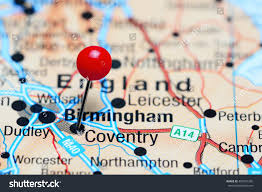 map uk coventry coventry pinned on map uk stock photo 409901206
