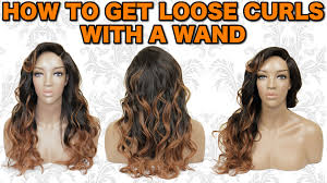 how to curl loose curls on a side ethnic hair tutorial how to curl style your handmade full wig curling