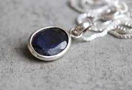 jewelry blue sapphire necklace images Buy dark blue sapphire silver necklace handmade silver jewelry jpg