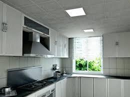 faux plafond design cuisine eclairage plafond cuisine led dalles led luminaire cuisine idee
