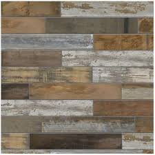 backsplash tile flooring the home depot montagna wood vintage chic 6 in x 24 in porcelain floor and wall tile