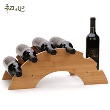 high quality vintage wooden wine racks 5 bottle red wine holder