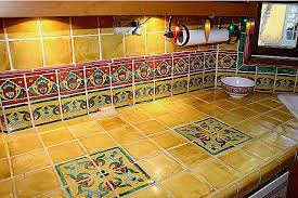 mexican tile vanity countertop closeup mexican home decor gallery