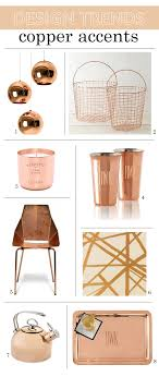 copper decor accents 2015 design trends copper home accents simplified bee