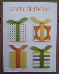 simple birthday card great way to use up ribbon paper crafts