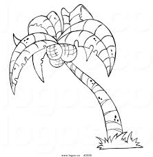 royalty free vector of a black and outline white palm tree