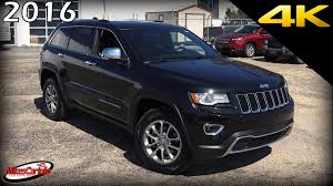 jeep suv 2016 black 2016 jeep grand cherokee limited ultimate in depth look in 4k