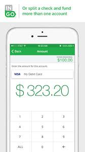 how to put a check on a prepaid card ingo money checks fast to bank prepaid on the app store