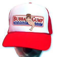 Forrest Gump Running Halloween Costume Curved Bill Bubba Gump Shrimp Hat Red Cap Forrest Gump
