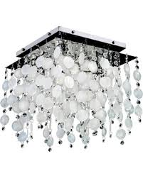 capiz flush mount light new savings on cityscape capiz shell and crystal 4 light flush mount