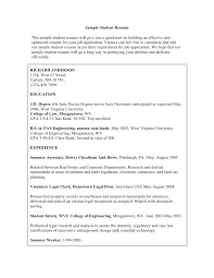 Example Of Student Resume Sample Law Student Resume Image Result For How To Write Resume