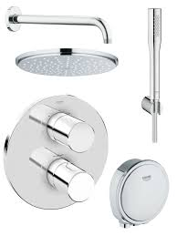 Grohe Shower Systems Grohe Grohtherm 3000 Cosmopolitan Bath Shower Shower Solution Pack4