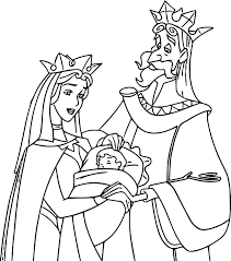 sleeping beauty baby his mom and dad coloring page wecoloringpage