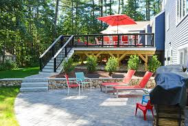 Stone Decks And Patios by Oakville On Deck Builder Creates Stunning Dream Backyards With