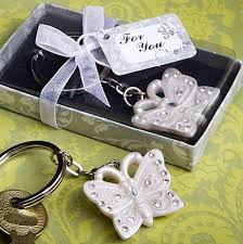 keychain favors wedding gift beautiful butterfly design key ring wedding keychain