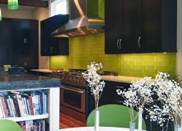 green subway tile kitchen backsplash designernotes modwalls
