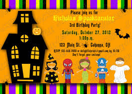 Happy Birthday Halloween Pictures Halloween Kids Birthday Party Invitations Printable Halloween