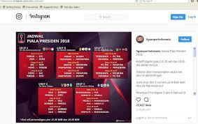 Jadwal Piala Presiden 2018 Piala Presiden 2018 Jadi Ajang Pemanasan Bagi Klub Liga 1 Dan Liga