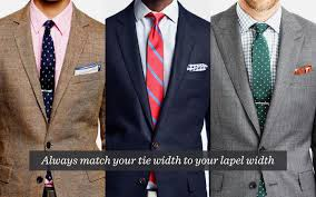 Mens Formal Wear Guide What Tie Width Should I Wear The Gentlemanual A Handbook For