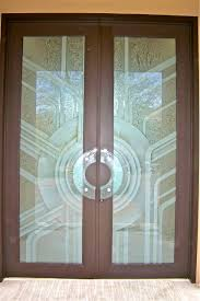 etched glass door geometric art deco contemporary glass art deco