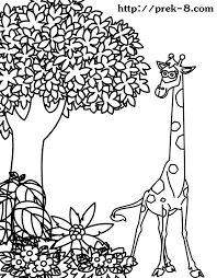 jungle coloring page kids coloring