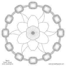 spring flower mandala pattern mandala free printable mandala