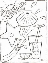 summer holiday coloring pages first day of summer coloring pages