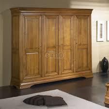 armoires de chambre armoire de chambre 2 à 4 portes merisier massif style louis philippe