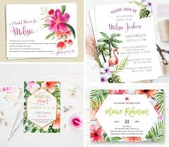 tropical wedding invitations tropical themed bridal shower invitations ideas southbound
