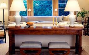 unique long table behind couch 96 for your living room sofa ideas