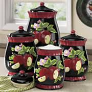 canisters 4 piece sets kitchen seventh avenue