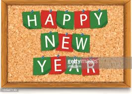 Board Decoration On Happy New Year by Happy New Year Notes On Cork Board Vector Art Getty Images