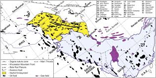 current distribution of oil and gas fields in the zagros fold belt