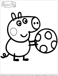 coloring pages peppa the pig george playing with a ball peppa pig coloring page coloring