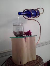 the making of the wine bottle water feature fountain ideas
