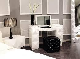 Diy Makeup Vanity Chair Desk Makeup Table Combo Eva White Lacquer Vanity Table Vig