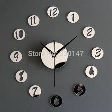 home decor wall clocks home decor wall clock acrylic creative mirrors figure in small round