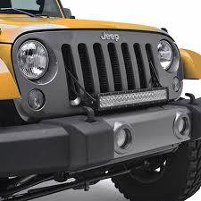 led lights for jeep wrangler jk paramount 20 led light bar bracket through grille jeep wrangler