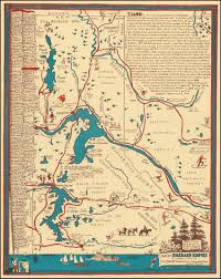 Map Of Montana And Idaho by Lake Of The Emerald Empire A Merry Map Of The Idaho Panhandle