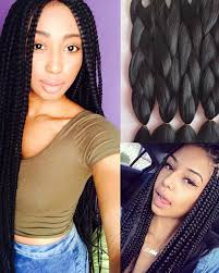 medium box braids with human hair braiding hair synthetic hair extension jumbo braid box braid