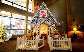 the great wolf lodge will let you eat inside a real gingerbread
