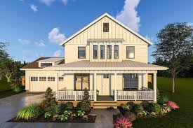 2 story farmhouse plans plan 62715dj 2 story modern farmhouse plan with front porch and